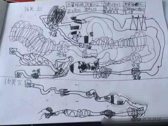在日记本上画了一整套rpg游戏
