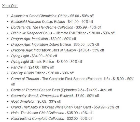 Xbox平台80余款游戏终极大降价