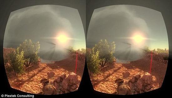 借助如Oculus Rift之类的头盔显示器(HMD)或虚拟现实眼镜,战士们只要转动头部和身体,就可获取不同的现实360度3D环境视图,然后研究制定战斗方案,例如如何在敌人火力下第一时间援救受伤战友。