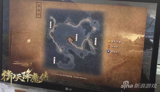 《御天降魔传》寒雀湖地图
