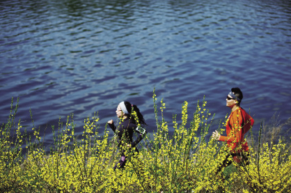 跑步 浑河边最时髦的风景