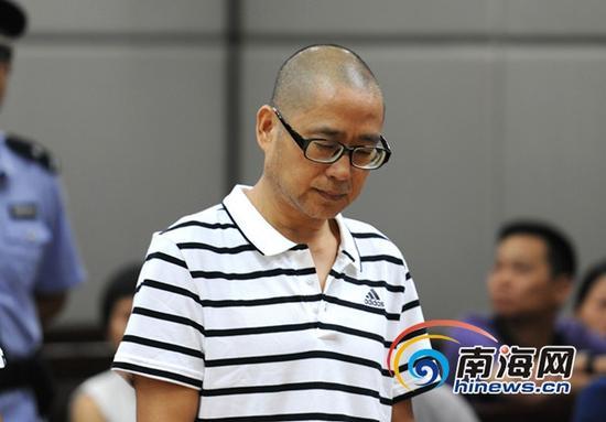 沈桂林受审。(通讯员符晓玮摄)