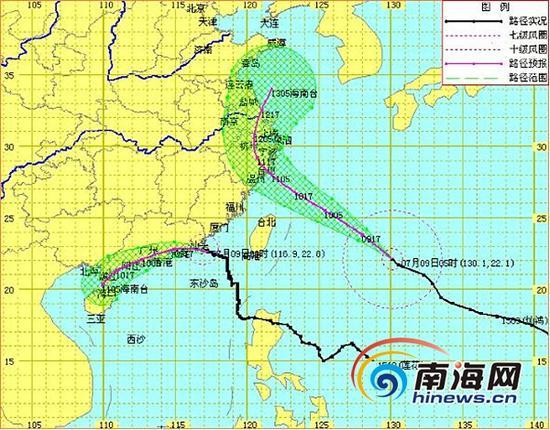 """1510号台风""""莲花""""和1509号台风""""灿鸿""""路径实况与预报图"""