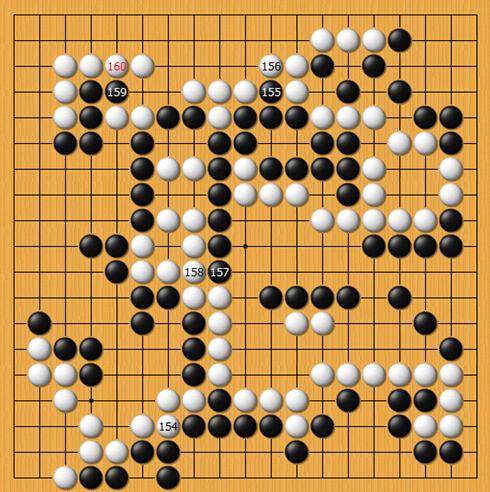 逆战 萨克斯谱-白154也是很难理解的一手,这里的价值也就是逆收两目多,我甚至怀