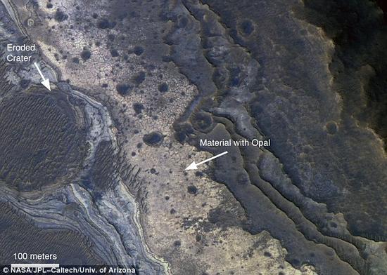 一个英国格拉斯哥大学的研究组在一块火星陨石中鉴定出了火欧泊成分。这项发现将为研究人员判断未来该前往火星上的哪些区域开展对火星生命的搜寻工作指明方向
