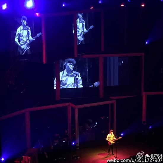 杨丞琳秀恩爱自称歌迷