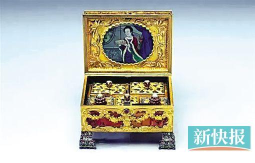 英國 十八世紀 鐘錶化妝匣
