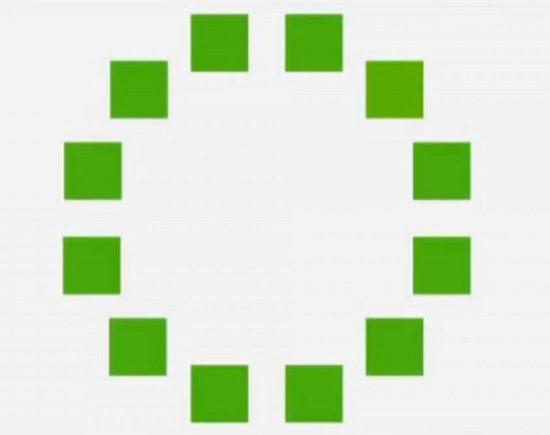 你能否看出哪一块绿色方块颜色深度与其它不同?是左上第二块。我们也许无法识别出,但辛巴人却可以立即挑出来。