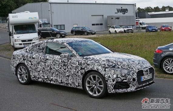 Audi A5 Coupe spy 01