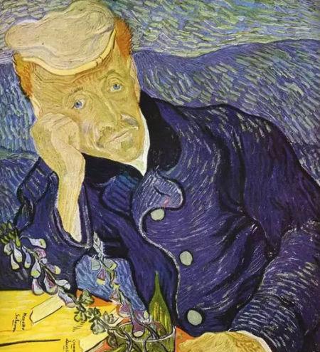 梵高创作的油画《加谢医生的肖像》