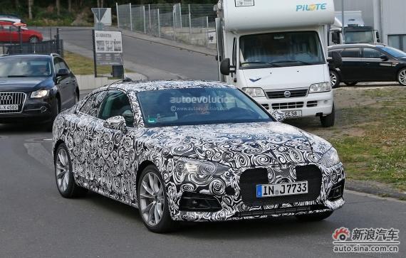 Audi A5 Coupe spy 04
