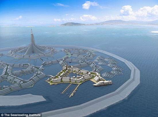 一个由海洋生物学家、海上工程师和环保专家组成、得到全球最大在线支付平台——贝宝公司创办人泰尔支持的科研组计划建造一座漂浮城市或海上家园(照片显示)。据估计,它最早于2020年问世。