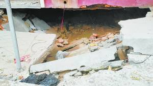 保定两民房突然塌陷 疑与40多年前所挖地道有关