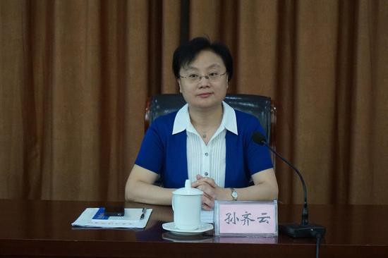 省红十字会专职副会长孙齐云现场发言