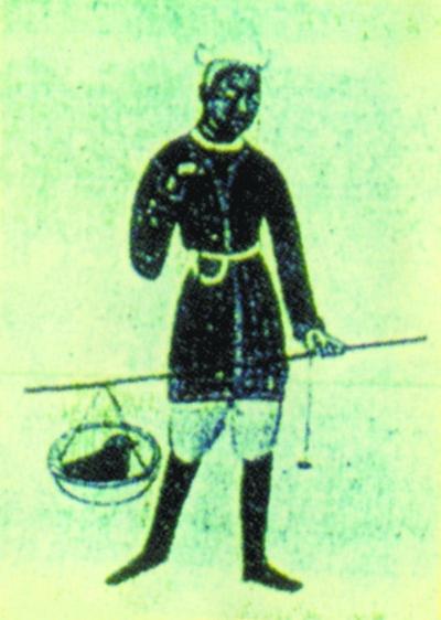 南北朝時期敦煌壁畫中的桿秤稱鴿場景