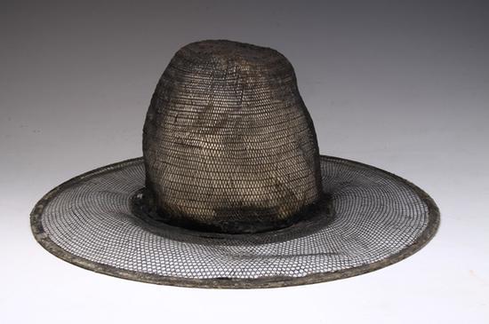 竹編圓頂笠帽