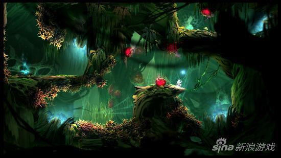 《奥日与黑暗森林》是一款独立游戏,采用的是2d画面,但是有3d效果图片