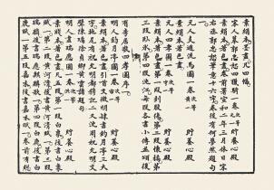 《石渠宝笈》第十六卷中著录的《宋人摹郭忠恕四猎骑一卷》