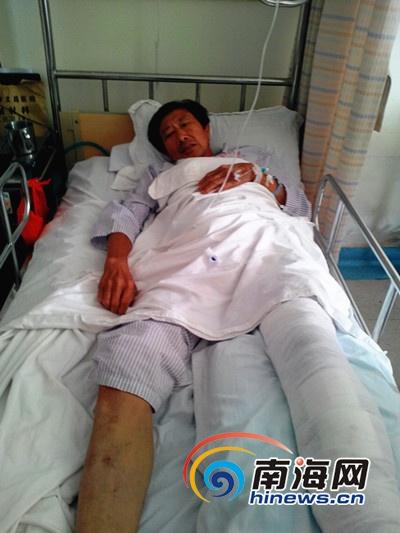张国立住在医院急需手术(南海网记者刘培远摄)