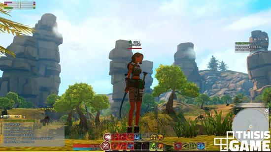 """如果发现最初的""""自然景观"""",玩家会得到相应奖励。图片来自于2次CBT测试中公开的""""张家界"""""""