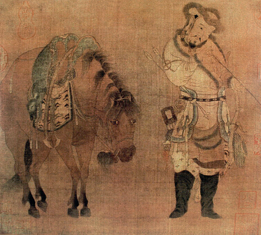赵伯骕《番骑猎归图》故宫博物院藏