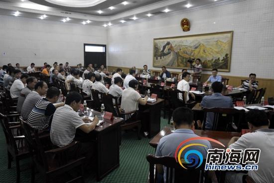 7月16日下午,海口市召开农贸市场环境秩序整治工作动员会。(南海网记者周静泊摄)