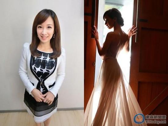 廖廷娟17日上传自己的婚纱照,透光拍摄下,让曼妙身材完全显现