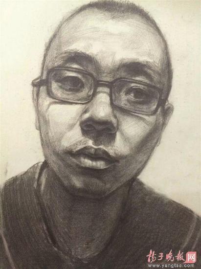 美术老师手绘嫌疑人画像.