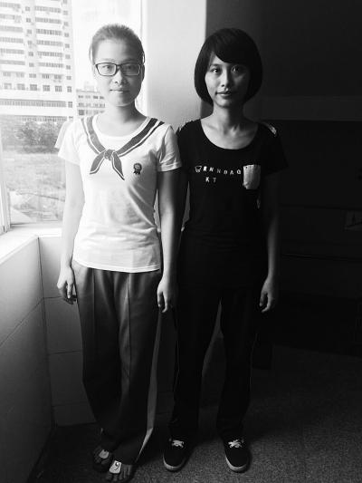 吴小春(左)和吴小红