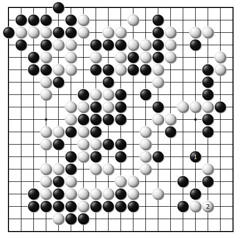 架子鼓乐谱逆战手乐谱-黑1若企图全部吃进白棋,白2位长则简明出棋.   黑1上虎看似是最强