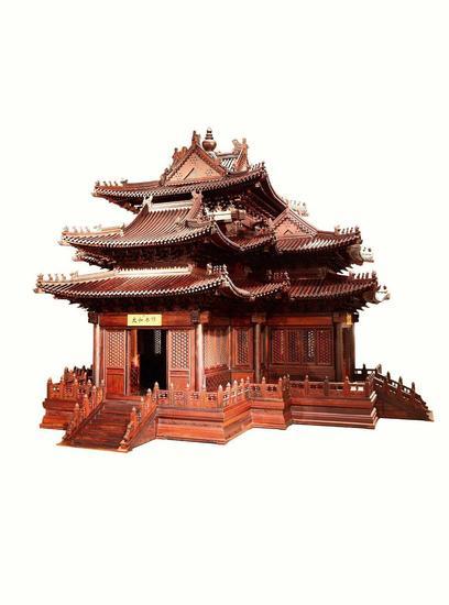 红木故宫角楼(拍品编号:1506)  起拍价¥6,000,000