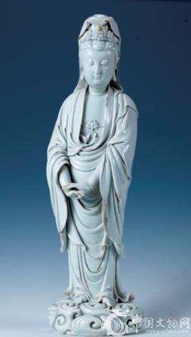 明代瓷聖何朝宗的瓷塑作品 祥雲觀音