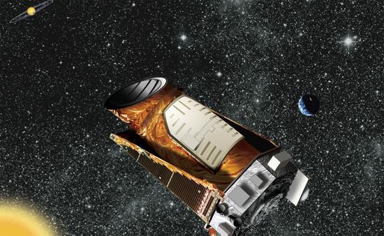 艺术示意图:正在空间运行的开普勒望远镜