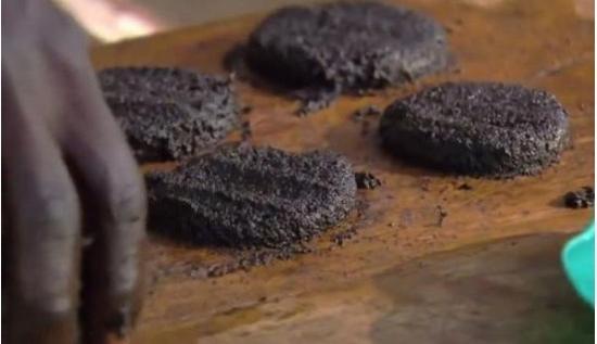 非洲湖畔居民用苍蝇做汉堡 每个含50万只