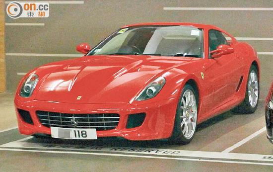 郭可颂领有的车牌为118法拉利跑车。