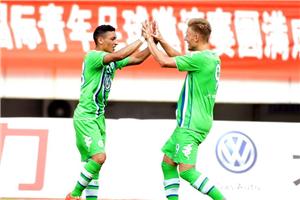 潍坊杯-鲁能上半场连丢四球 1-4惨败沃尔夫斯堡