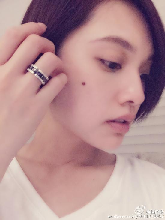 杨丞琳秀戒指