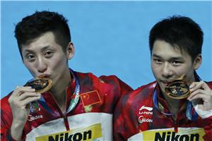 世锦赛中国男双10米台夺冠 重夺上届唯一失落金牌