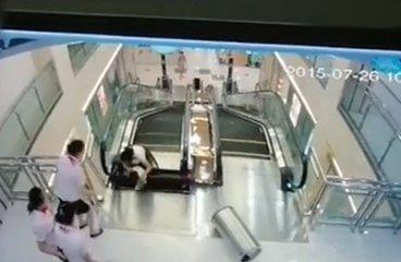 商场电梯吃人事故