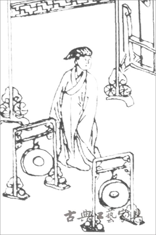 """1.萬曆本《魯班經》卷二家具部分之""""鼓架式""""插圖"""