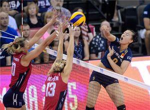 大奖赛中国女排0-3美国 总决赛2胜3负第四名收官