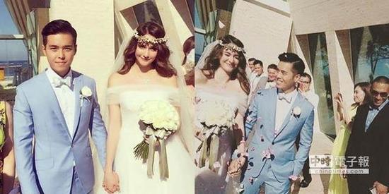 瑞莎与老公巴厘岛完婚