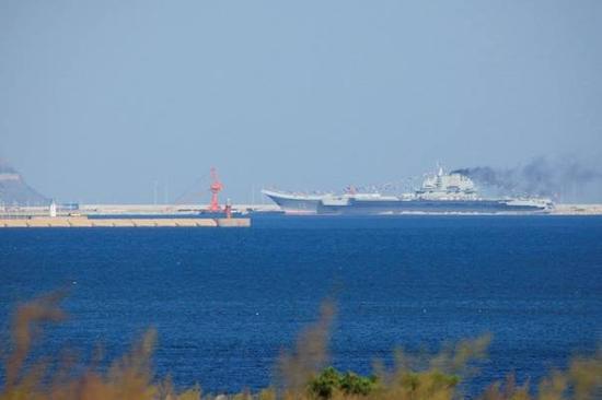 辽宁号所在军港已初具规模