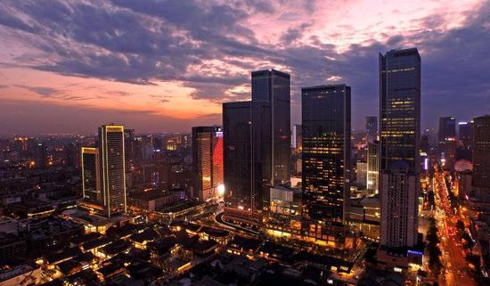 俯瞰成都最美街景(摄影:刘杰)