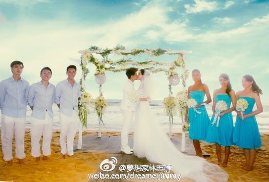 林志颖晒拥吻幸福照庆祝结婚纪念