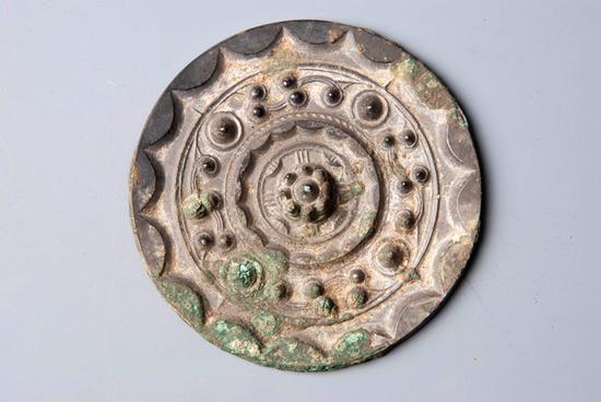 漢代四子二十孫連弧紋銅鏡