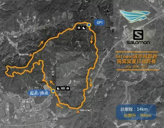 赛事地图。
