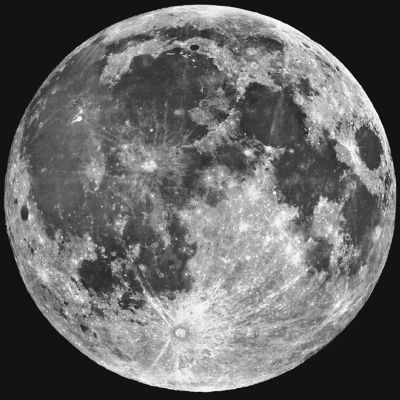 真实的月球颜色