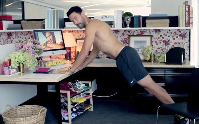 世界顶级男模示范办公室如何健身