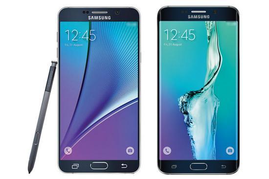 三星Galaxy Note 5与S6 edge+